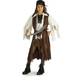 Disfraz De Piratas Del Caribe Para Niña Talla S