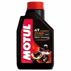 1 Litro Motul 7100 20w50 4t 100% Sintético - Óleo De Motor