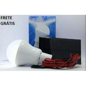Lâmpada Led Solar Bateria Interna + Placa Solar Frete Grátis