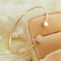 Presente Barato Bracelete Dourado, Pulseira Linda Com Pedra