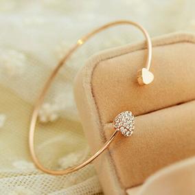 Presente Barato Bracelete Dourado, Pulseira Feminina