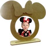 Porta Retrato Minie Minnie Ou Mickey - Mdf Cru - Kit Com 11