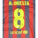 Jersey Autografiado Andres Iniesta Barcelona España Nike
