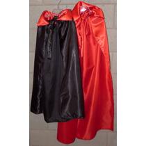 Disfraz Capa Bruja Dracula Halloween Niños Adultos