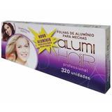 Papel Alumínio P/ Mecha 2caixa 320 Folhas 12x30 Luzes/ofert