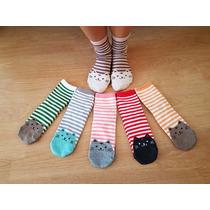 Calcetines Con Diseño - Gatos Con Rayas (3 Pares)
