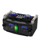 Parlante Portatil 30w Bluetooth Usb Radio Fm Mic +bola Luces