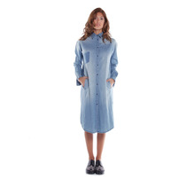Sarkany Hentei - Camisa Mujer Denim Larga