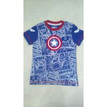 Ropa Niños Camisas Franelas Avengers Capitan America Hulk