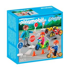 Playmobil Niños Y Oficial De Tránsito 5571 4-10 Años