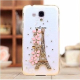Capa Case Luxo Strass Galaxy S3 Mini Flores Flor Eiffel 3d