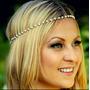 Diadema Cintillo Tiara Moda Perla Griega Hojas Doradas Mujer
