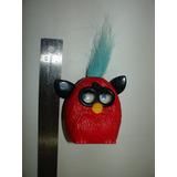 = Mc Donalds = Furby Vermelho Com Topete Azul Claro