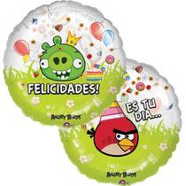 Globo Angry Birds Paq 6 Pzas Medida 18 Pulgadas Para Helio
