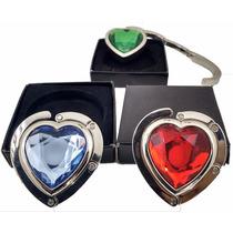 Kit 10 Pçs Suporte Gancho Em Metal Pendurar Bolsas Coração
