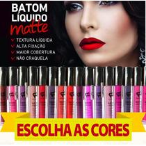 Batom Líquido Matte Fashion 12 Unidades Atacado Promoção