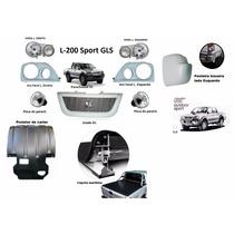 Kit Protetor + Acessorios L-200 Sport Outdoor 04/12.
