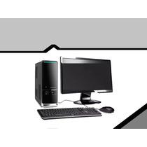Computadora Intel Dual Core 4gb Ram Disco 500gb Con Monitor