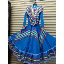 Traje Típico Vestido De Jalisco, Adelita Niña 6, 8, 10