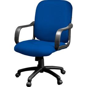 Sillón Oficina Semi Ejecutivo Comfort Tapizado Azul