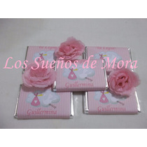 50 Chocolates Personalizados Nacimiento Baby Shower Souvenir