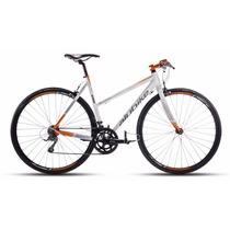 Alubike Bicicleta Sport Onix.flat 700c 16v.bco-c/gris-nja