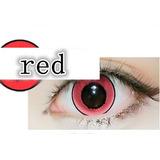 Lente De Contato Vermelha Donut Circle Lens Olhos De Boneca
