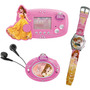 Kit Mini Game + Rádio Fm + Relógio Princesas Bella - Candide