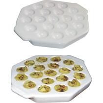 Provoletera Cerámica 19 Porciones Blanca P/ Horno Y Parrilla
