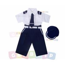 Conjunto Marinheiro Calça Camisa Curta - 06 Meses A 02 Anos
