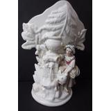 Rara Magnífica Ânfora Francesa Vieux Paris Com Estatueta