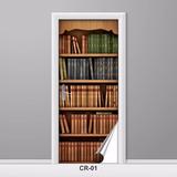 Adesivo Para Porta Estante De Livros Retrô Criativo Decorar