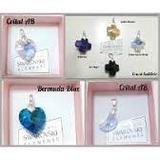 Conjuntos De Cristal Varios Colores, Cadena Dije Y Aros