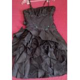 Vestido Gala Talla Estandar , Color Negro.