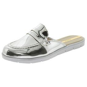 Sapato Feminino Mule Prata Moleca - 5613207