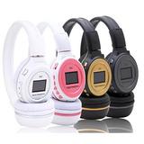 Fone De Ouvido Headphone Sem Fio Com Visor Sd Rádio Fm Mp3