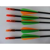 Kit 5 Flechas Fibra De Vidro 6 Mlm Diametro, 85 Ctm Compri