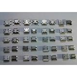 Conector Usb Micro Tablet Celular Kit 20 Modelos Diferentes