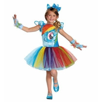 Disfraz My Little Pony Rainbow Dash Tallas 4-6 Y 7-8.