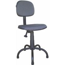 Cadeira Costureira Estofada De Acordo Com A Nr 17 Cinza/pret