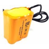 Bateria Farol Bike Lanterna 6 Células Super Potente J.w.s