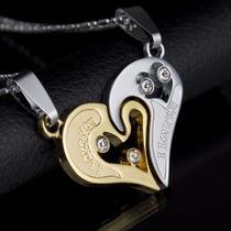 Collar Corazon Parejas Amor Novios Pareja Enamorados...