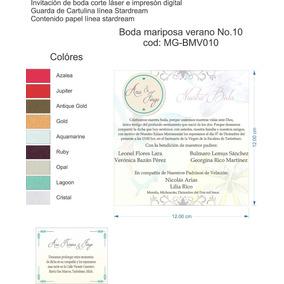 Invitacion Boda Mariposa No.10 Cod: Mg-bmv010