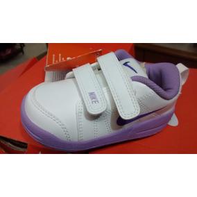 Tenis Nike Pico Original Fem Infantil Branco Lilas