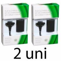 Kit 2 Baterias Carregador Controle Xbox 360 - Pronta Entrega