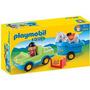 Playmobil 1-2-3 Auto C/remolque Y Caballo 6958 Zona Devoto