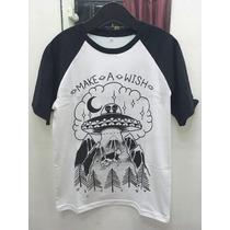 Remera Make A Wish Ovni - Rock - Metal - Core - Dark Goth