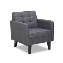 Harper Modern Tufted Grey Silla De Diseño