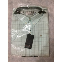 Camisa Hombre Perdomo Talle 42 Manga Corta