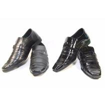 2 Sapatos Sociais Masculino Barato Elegante Com Fivela Lindo